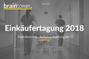 Vortrag beim Fachverband für Einkäufer, Materialwirtschaftler und Logistiker im Krankenhaus e.V. von Florian Wiethoff zum Theam Digitalisierung von Krankenhäusern.