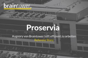 PROSERVIA Augoory von Braintower hilft Kunden effizient zu arbeiten, Reaktionszeiten zu verkürzen und eine hohe Qualität der angebotenen Dienstleistungen zu erzielen.
