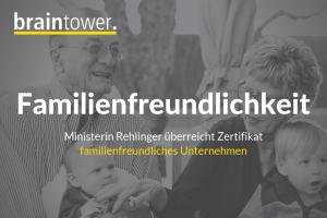 Braintower ausgezeichnet als familienfreundliches Unternehmen